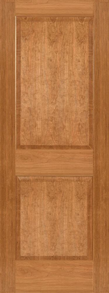cherry 2 panel square raised panels stain grade solid