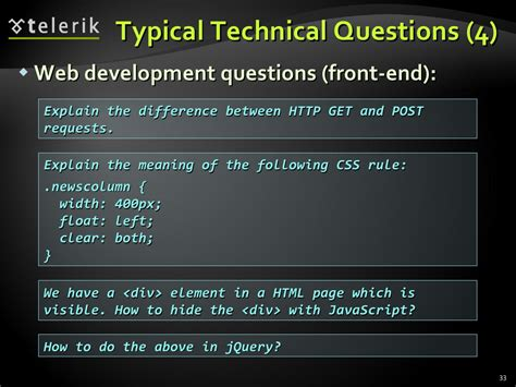 Typical Mba Questions Tech by Typical Technical Questions 4 Web