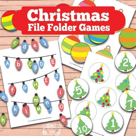 printable christmas games for kindergarten christmas file folder games itsy bitsy fun