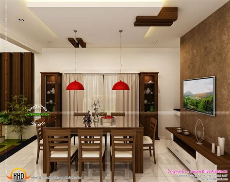dining kitchen living room interior designs kerala home luxury interior designs in kerala keralahousedesigns
