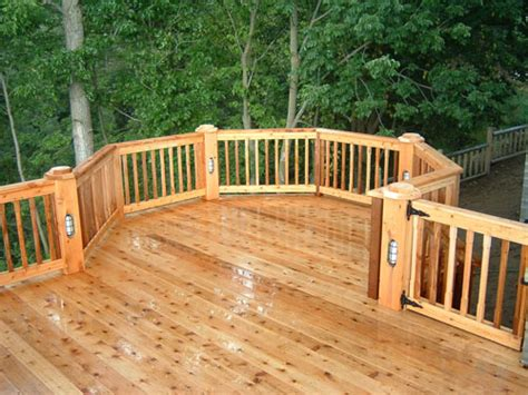michigan wood deck pictures down home construction garden city mi