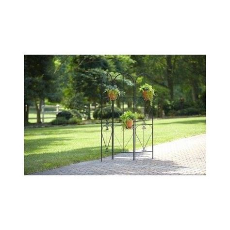 Patio Divider Ideas Divider Screen Plant Stand Black Scroll Metal Outdoor
