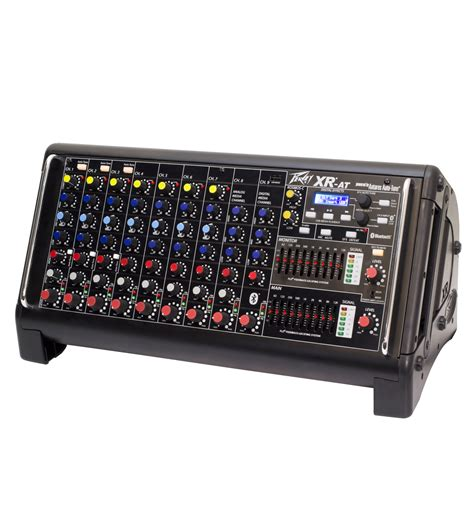 Mixer Audio Peavey xr 174 at powered mixer peavey