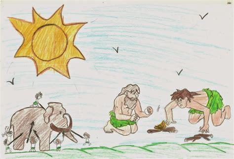 como da luana ensina homem das cavernas em desenho