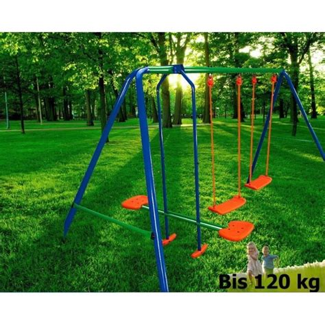 outdoor childrens swing outdoor kids childrens garden double swing s003 4 place