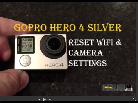 resetting wifi hero 3 gopro hero 4 silver wifi camera reset youtube