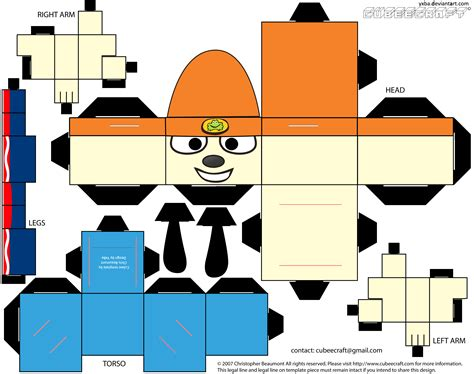 Cubeecraft Papercraft - parappa the rappa cubeecraft by yxba on deviantart