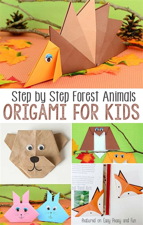 Origami For 7 Year Olds - forest animals origami for easy peasy and