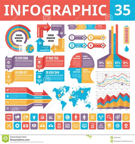 site layout planning elements infographic elements 35 infographic templates included