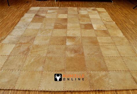 teppich hellbraun kuhfell teppich hellbraun 200 x 160 cm handvern 196 ht