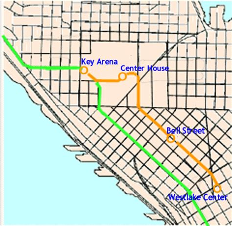 seattle map monorail suggestions for a new seattle center monorail
