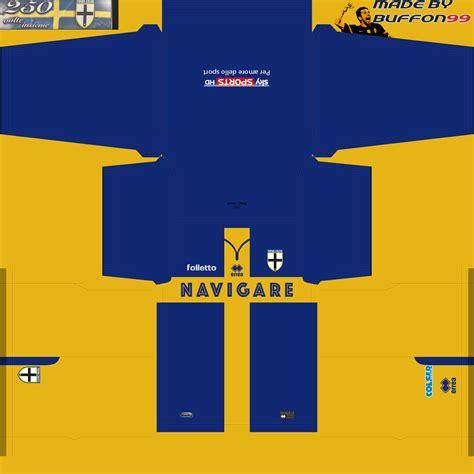 desain keren kit jersey pes2013 parma 2016 new kit for pes 16 by buffon99 pes patch