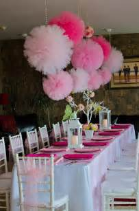 Nautical Themed Backyard - items similar to tulle pom poms pink party girls birthday party decorations nursery