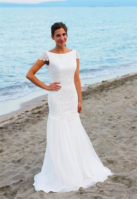 beach wedding dresses guest 2016 beautal beach wedding dress round neck backless floor