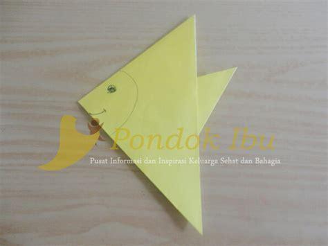 membuat origami ikan sederhana membuat origami ikan bawal