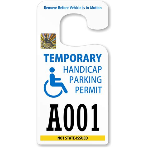 Handicap Parking Permits Temporary Parking Pass Template