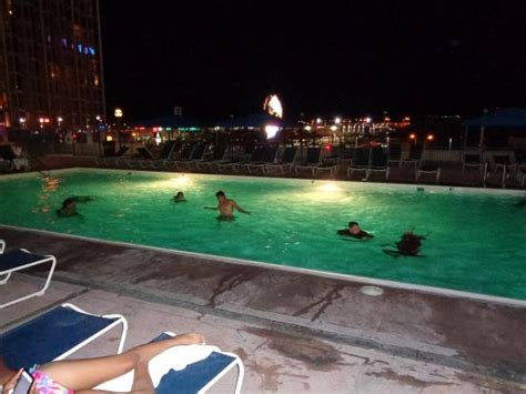 pool at night pool at night picture of aquarius casino resort bw