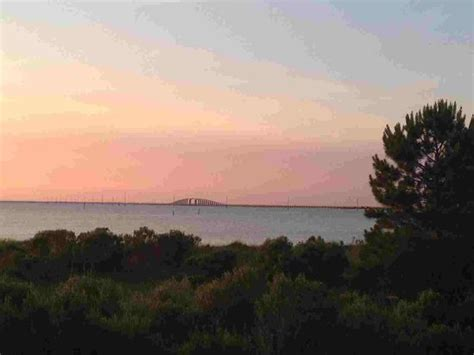 Dauphin Island Bridge At Sunset From The Deck Picture Dauphin Island Willow Tree Cottage