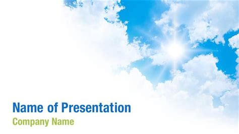 White Clouds Powerpoint Templates White Clouds Powerpoint Backgrounds Templates For Cloud Powerpoint Template