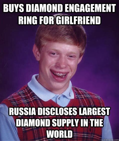 Engagement Meme - buys diamond engagement ring for girlfriend russia