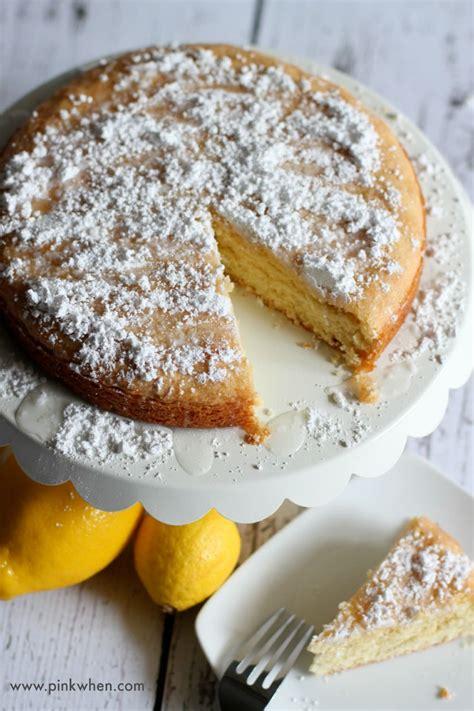 delicious lemon cake recipe pinkwhen