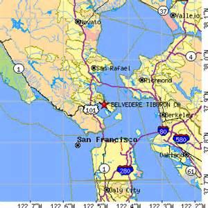 belvedere tiburon california ca population data