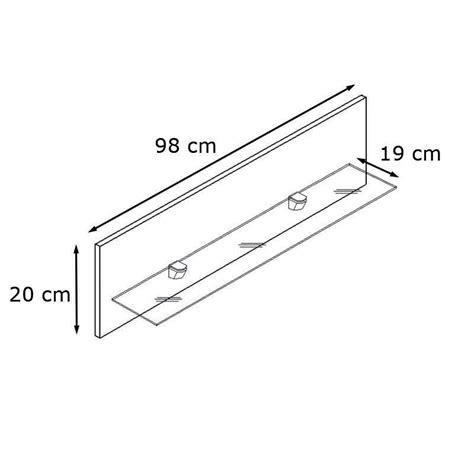 etagere 98 cm etag 232 re laqu 233 e noir en bois et verre 98 cm avec led pour