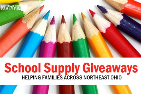 School Supply Giveaway 2017 - free school supply giveaways across northeast ohio