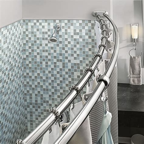 double curtain rod bed bath and beyond moen adjustable double curved chrome shower rod bed bath