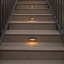 Solar Lights For Deck Steps Solar Deck Lights Stair Recessed Riser Led Light By Trex