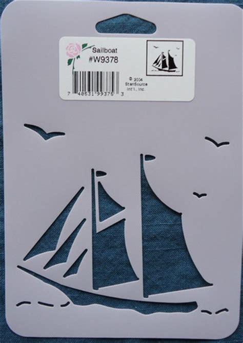 boat stencil stencil sailboat sail boat sea ocean paint chalk cards