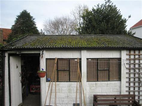Slough Sheds by New Pitched Garage Roof To Replace Garages Sheds