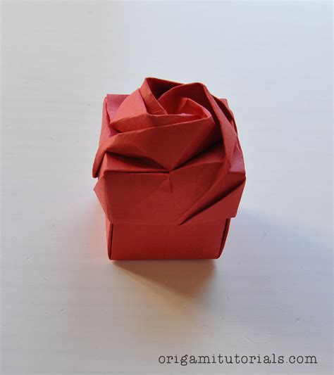 Origami Flower Box - origami box tutorial origami paper crafts