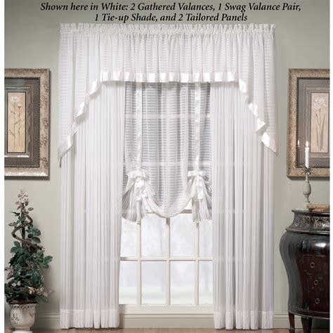 Ascot Valances Window Treatments Nimbus Stripe Ascot Valances And Window Treatments