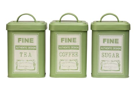 square kitchen canisters premier housewares 3 whitby square storage canisters jar tea coffee sugar green ebay