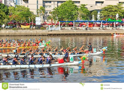 dragon boat festival kaohsiung boats racing in the love river for the dragon boat