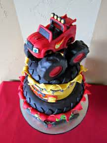 delectable cakes quot blaze and the monster machine s quot birthday cake