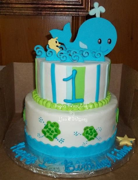 wale birthday turtles whales a seahorse 1st birthday cakecentral