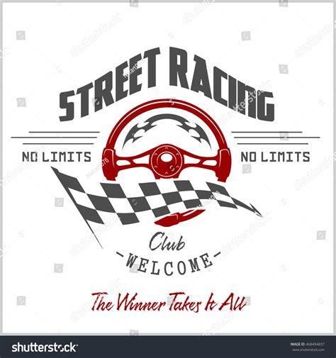 street racing design elements vector street racing club badge and design elements stock vector