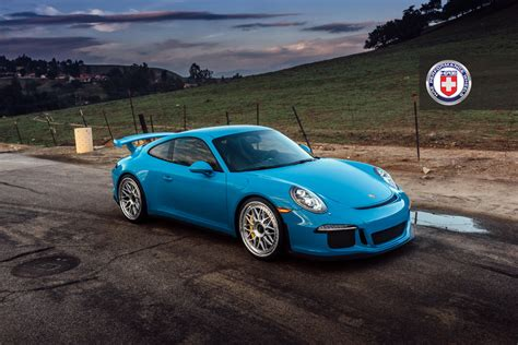 porsche blue gt3 mexico blue porsche 911 gt3 on hre wheels gtspirit