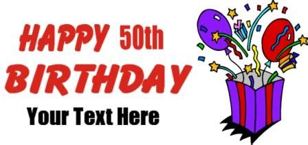 50th birthday banner template 50th birthday images clipart best