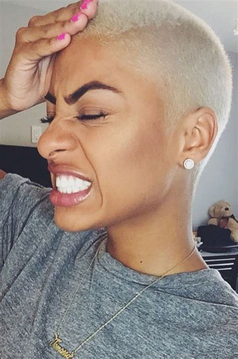 black women with shaved haircuts and color 1000 ideas about platinum blonde pixie on pinterest