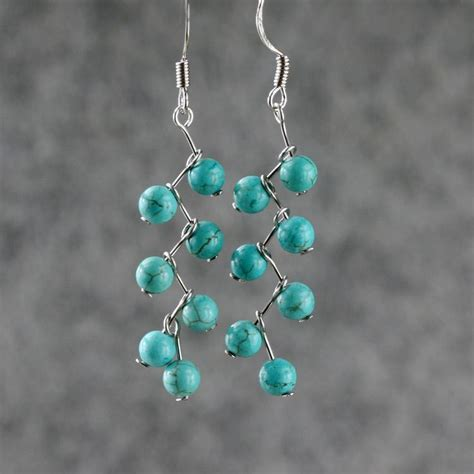 su yuan turquoise earrings personalized earrings handmade