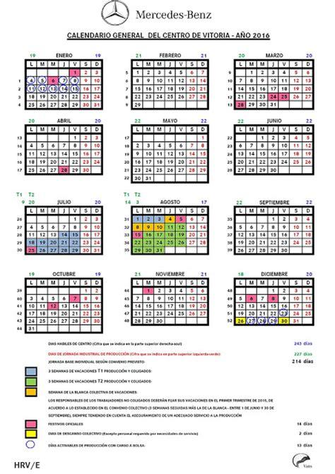 Calendario U De G 2015 Ugt Mercedes Calendario General 2016 Para Mercedes