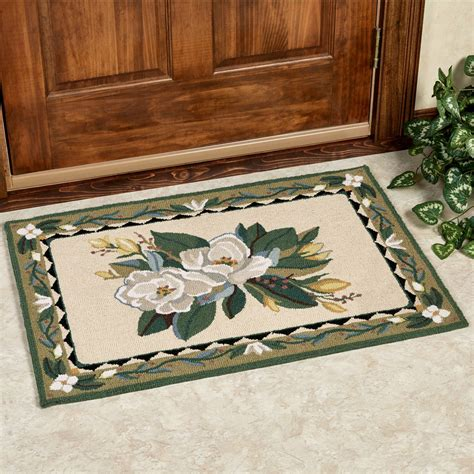 magnolia rug magnolia floral hooked accent rug