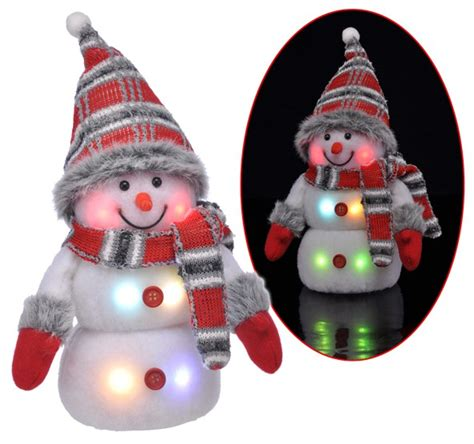 deko beleuchtung deko schneemann mit led beleuchtung weihnachten