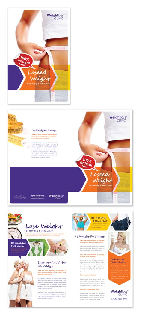 Weight Loss Clinic Brochure Template   dLayouts Graphic