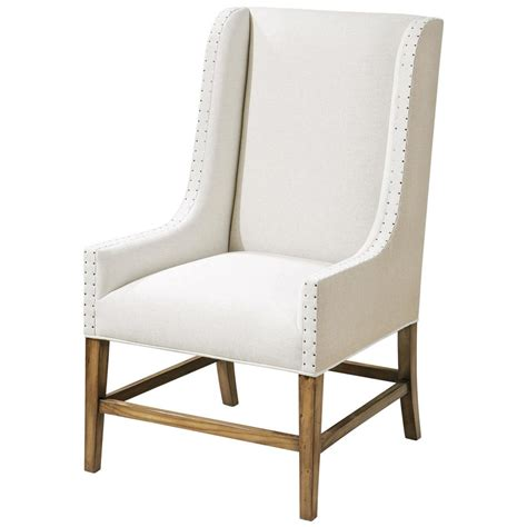 linen chair rylee coastal linen burlap wing chair kathy kuo home
