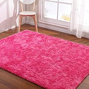 girls bedroom mats amazon com hoomy modern hot pink rug for girls room