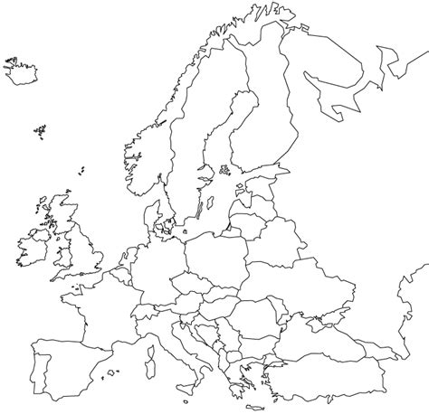 physical map of europe blank eastern europe blank physical map images